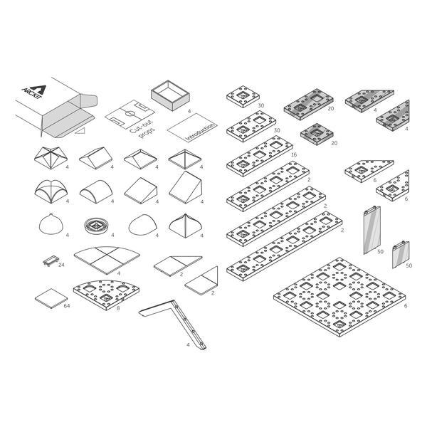 Kit constructie arhitectura - Masterplan 400+ piece Architectural Model Kit 8