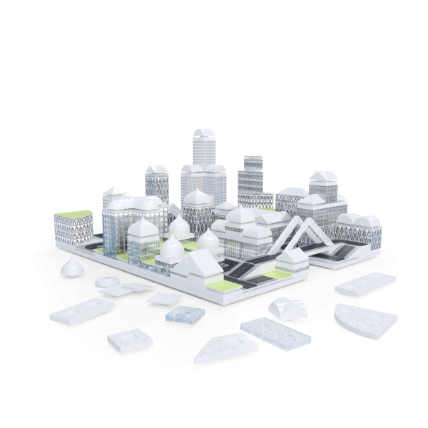 Kit constructie arhitectura - Masterplan 400+ piece Architectural Model Kit 2