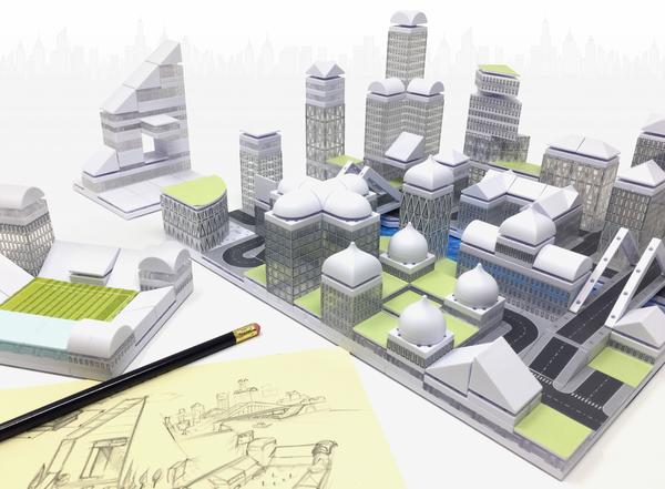 Kit constructie arhitectura - Masterplan 400+ piece Architectural Model Kit 9