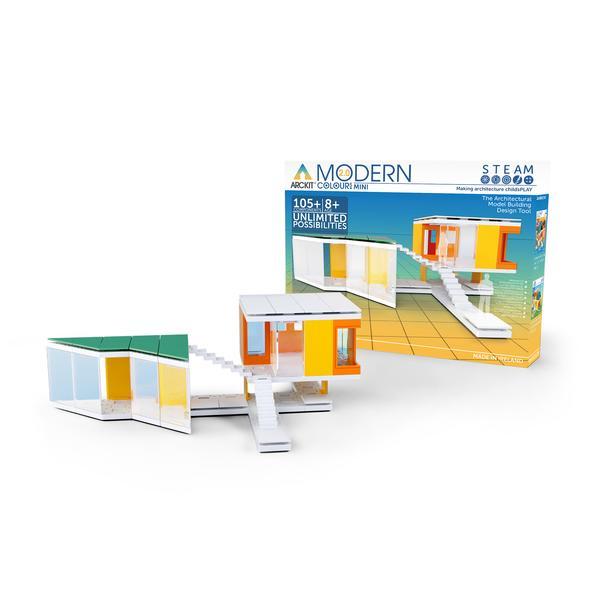 Kit constructie arhitectura - Mini Modern Colours 2.0, 105 piece Architectural Model Kit 1