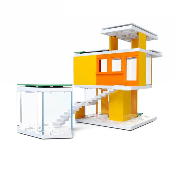Kit constructie arhitectura - Mini Modern Colours 2.0, 105 piece Architectural Model Kit 2