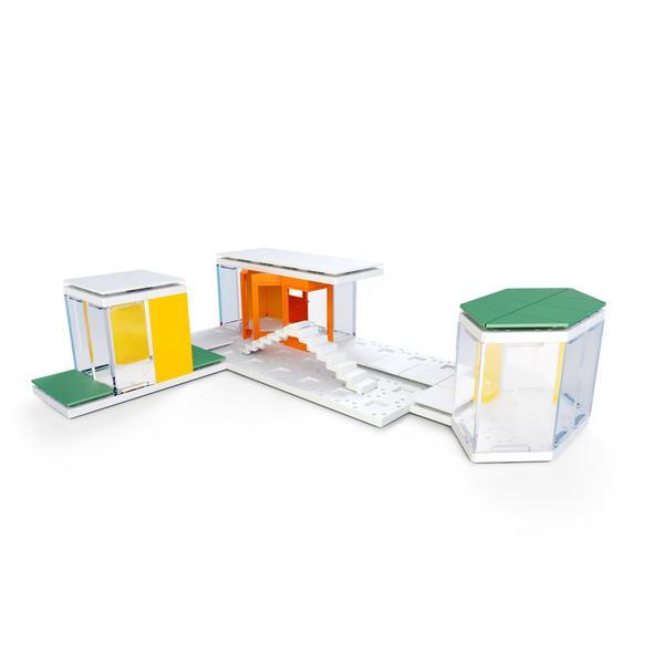 Kit constructie arhitectura - Mini Modern Colours 2.0, 105 piece Architectural Model Kit 4