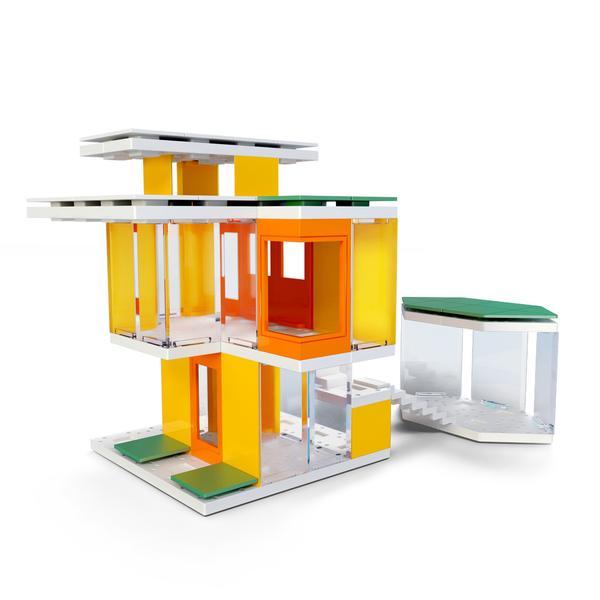 Kit constructie arhitectura - Mini Modern Colours 2.0, 105 piece Architectural Model Kit 3