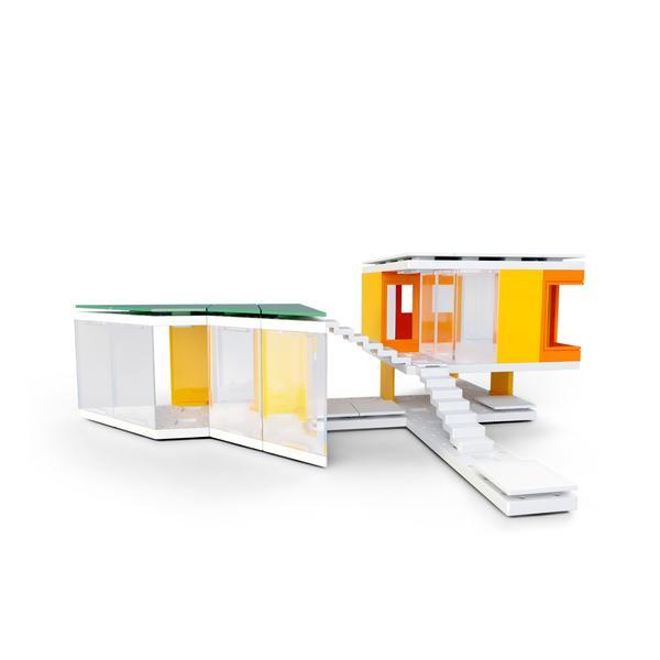 Kit constructie arhitectura - Mini Modern Colours 2.0, 105 piece Architectural Model Kit 0