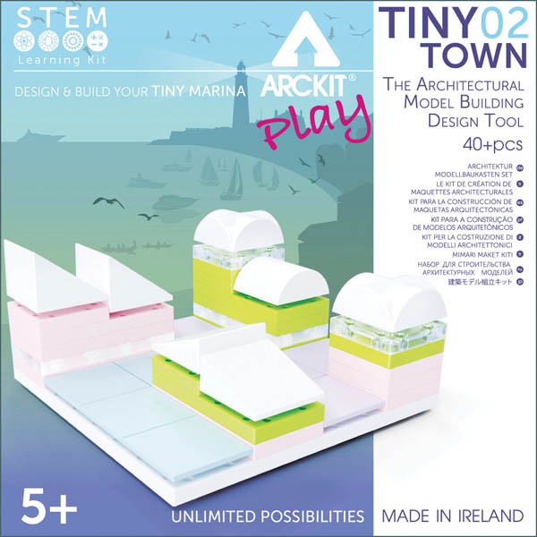 Kit constructie arhitectura - Tiny Town 2 Marina, 40 piece Architectural Model Kit 0
