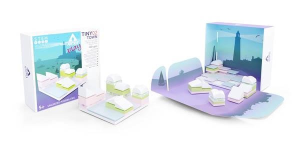 Kit constructie arhitectura - Tiny Town 2 Marina, 40 piece Architectural Model Kit 2