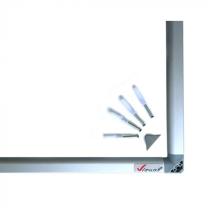 Pachet tabla magnetica alba VISUAL – 120×200 cm 5