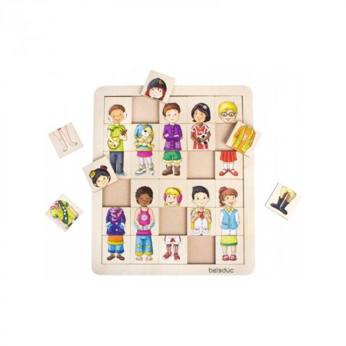 Puzzle amesteca si potriveste - Copiii lumii 0