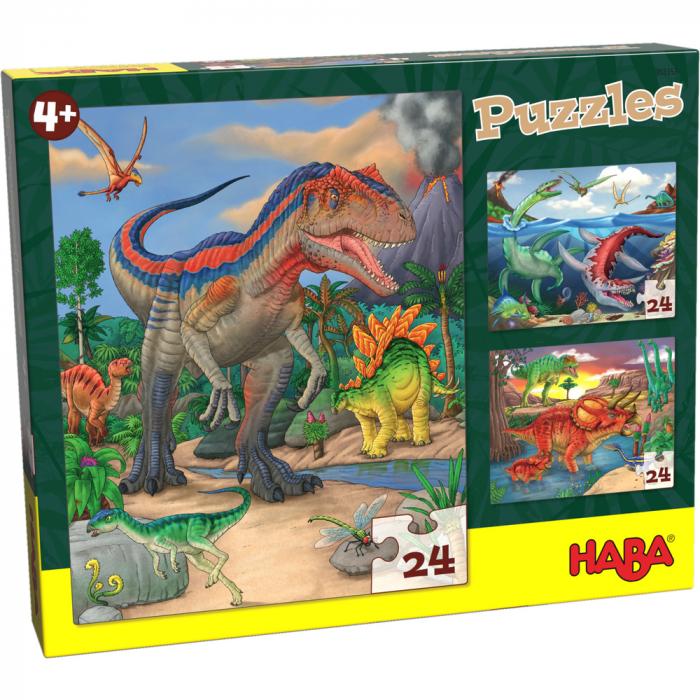 Puzzle cu dinozauri - HABA 0