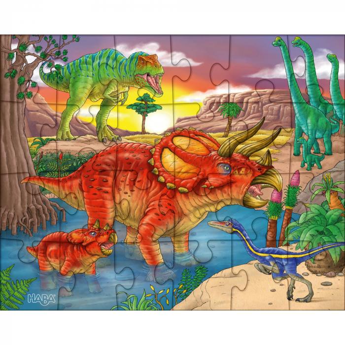 Puzzle cu dinozauri - HABA 2