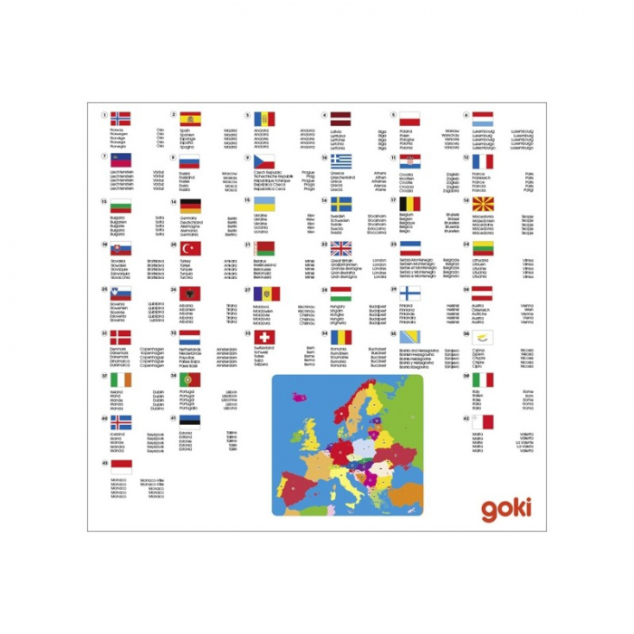 Puzzle din lemn - Harta Europei 1