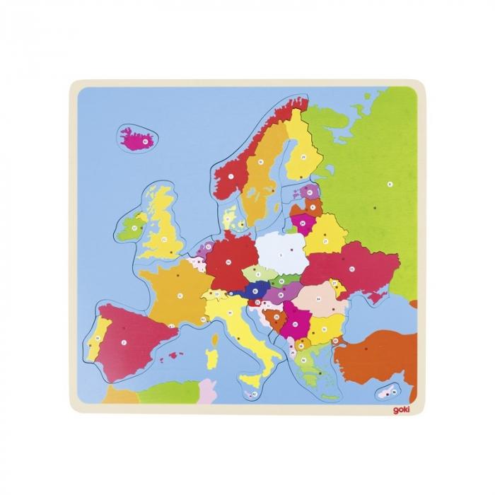 Puzzle din lemn - Harta Europei 0