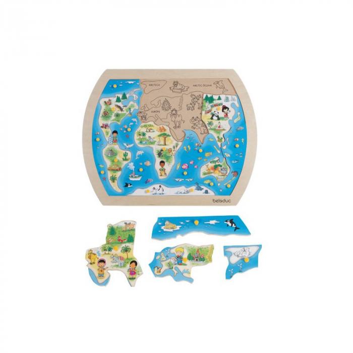 Puzzle din lemn - O lume intreaga 0