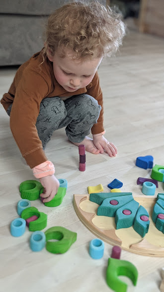 Puzzle din lemn - Paun 8