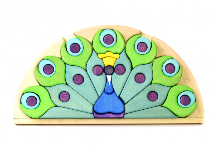 Puzzle din lemn - Paun 1