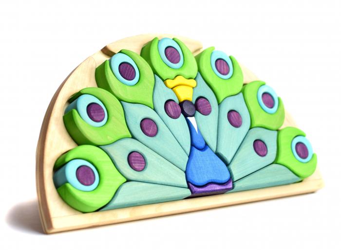 Puzzle din lemn - Paun 0