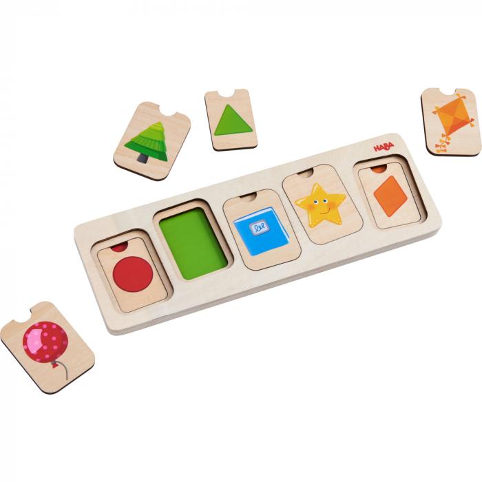 Puzzle lemn - Culori si forme (304586) [1]