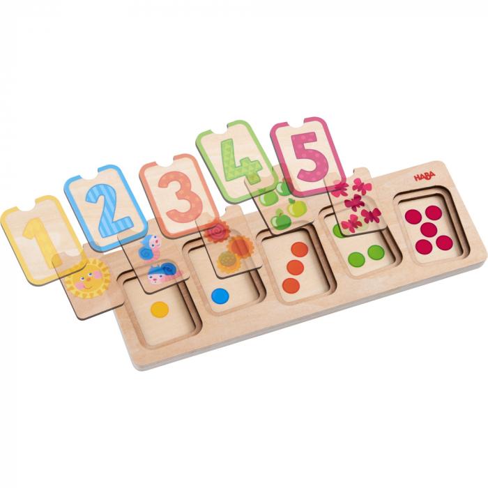 Puzzle lemn - Primele numere (304587) 2