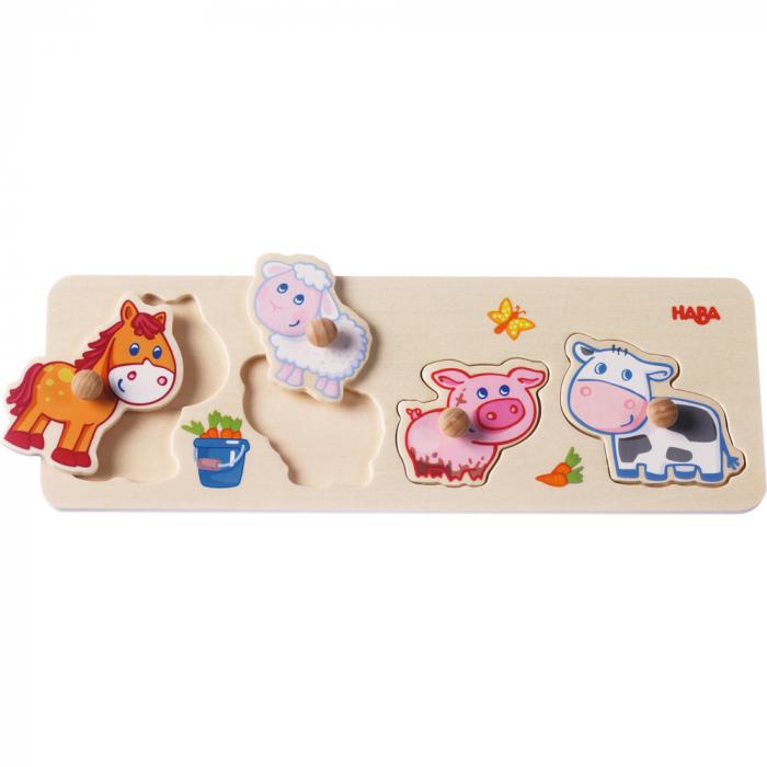 Puzzle lemn - Puii animalelor de la ferma (301939) 1