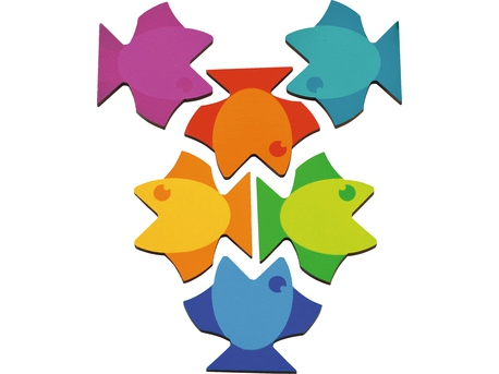 Puzzle mandala din lemn - Fish 2