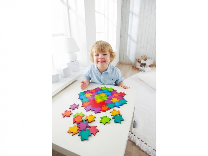 Puzzle mandala din lemn - Fish 4