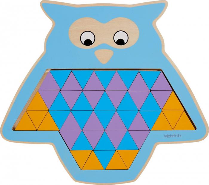 Puzzle mandala lemn - Animal trio 1