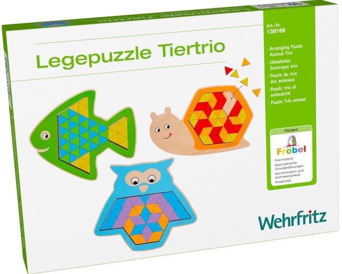 Puzzle mandala lemn - Animal trio 0