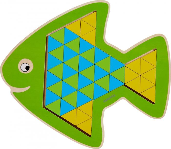 Puzzle mandala lemn - Animal trio 3