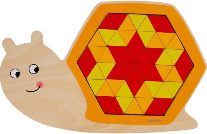 Puzzle mandala lemn - Animal trio 2
