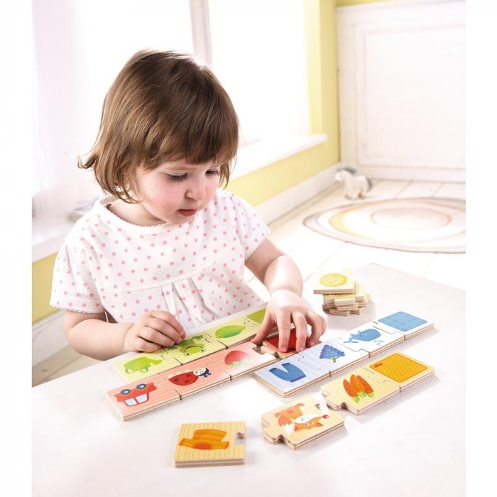 Puzzle lemn - Potriveste culorile 2