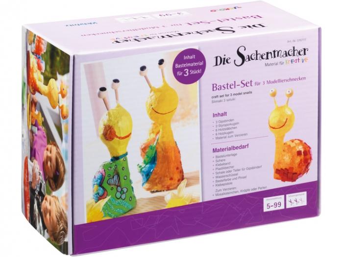 Set creativ pentru modelare - Snails Modeling Set 1