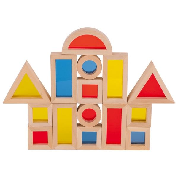 Set cuburi de construit din lemn, cu ferestre 2