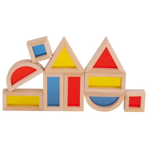 Set cuburi de construit din lemn, cu ferestre 1