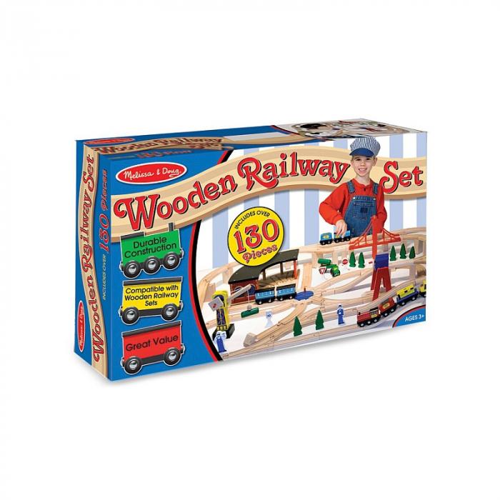 Set Trenulet din lemn cu depou 2