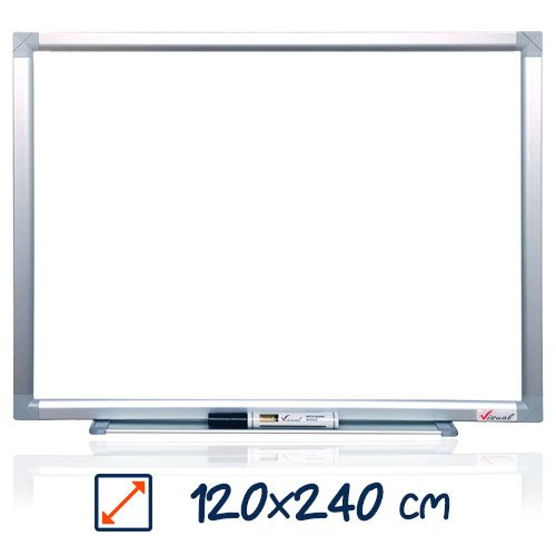 Tabla magnetica alba VISUAL – 120×240 cm 0