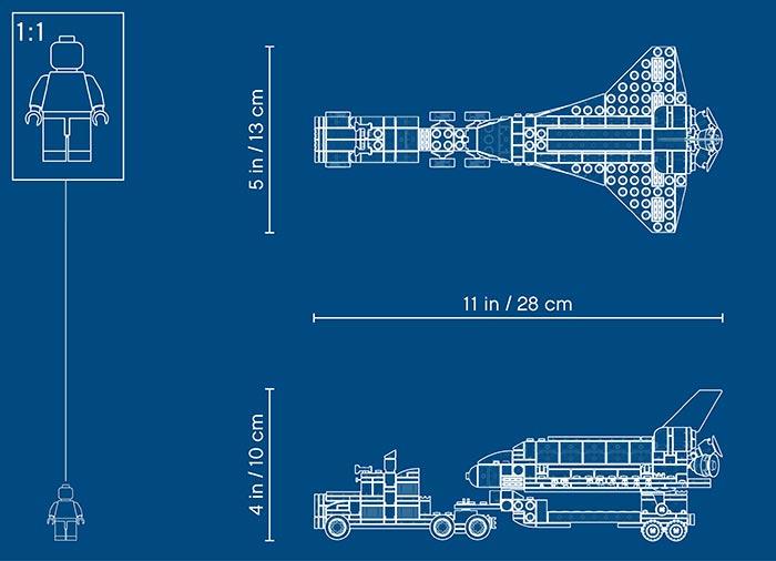 Transportorul navetei spatiale - LEGO Creator 31091 7