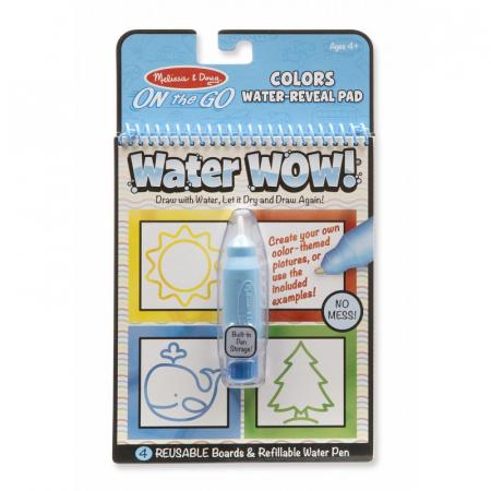 Carnet de colorat cu apa - Forme si culori (Water Wow) [0]