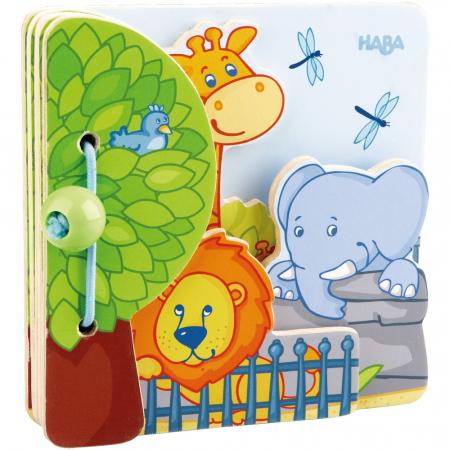Carte din lemn pentru bebelusi - Prietenii de la zoo0