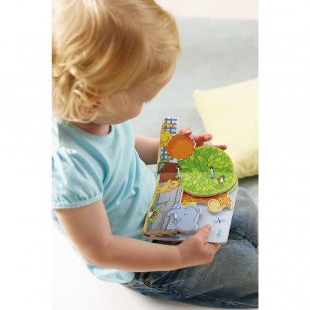 Carte din lemn pentru bebelusi - Prietenii de la zoo1