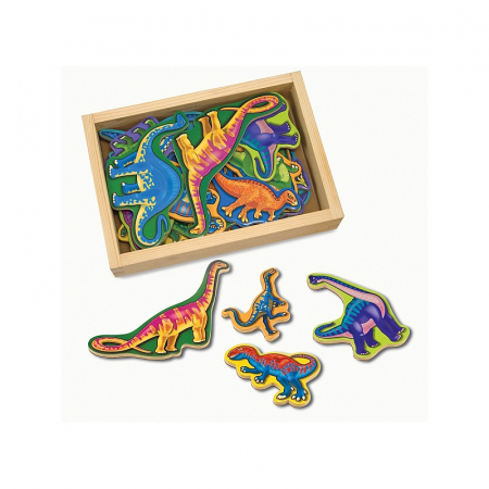 Dinozauri din lemn cu magneti0