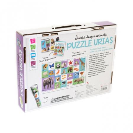 Invata despre animale. Puzzle urias1