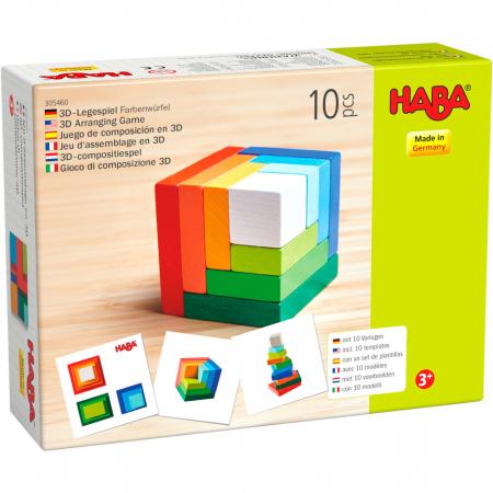 Joc de aranjare - Cub 3D curcubeu [0]