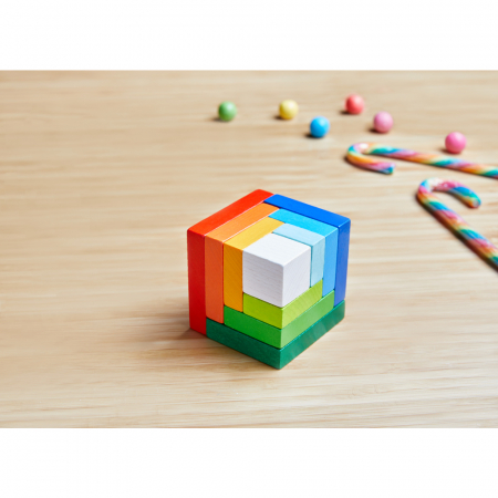 Joc de aranjare - Cub 3D curcubeu [6]