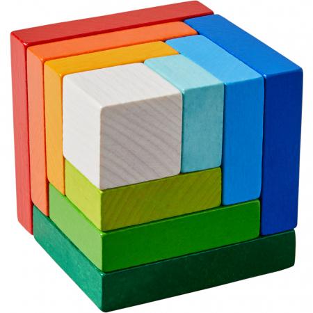 Joc de aranjare - Cub 3D curcubeu [1]