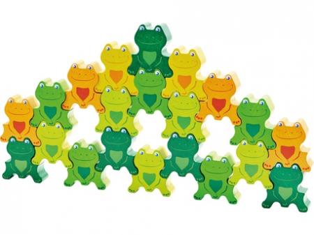 Joc de sortare si stivuire - Cheeky Frogs 3D1