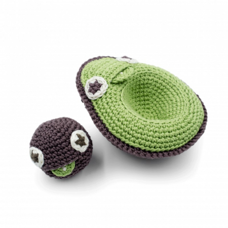 Jucarie crosetata - Mama avocado si bebe1