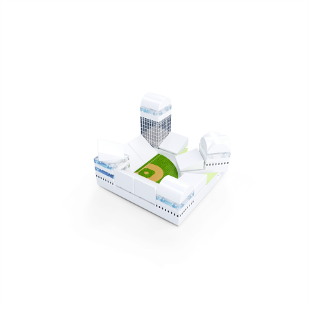 Kit constructie arhitectura - Masterplan 400+ piece Architectural Model Kit3