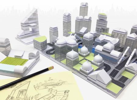 Kit constructie arhitectura - Masterplan 400+ piece Architectural Model Kit9