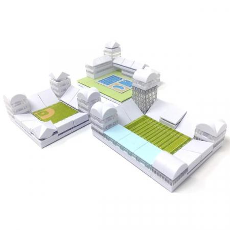 Kit constructie arhitectura - Masterplan 400+ piece Architectural Model Kit7