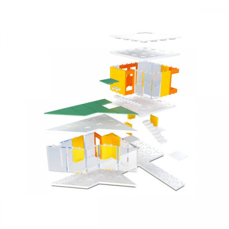 Kit constructie arhitectura - Mini Modern Colours 2.0, 105 piece Architectural Model Kit5